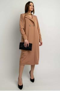 Платье-пиджак «Ирма» цвета кэмел