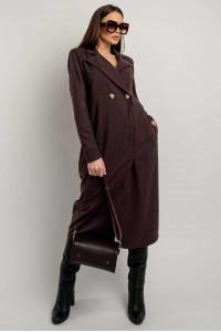 Платье-пиджак «Ирма» цвета баклажан