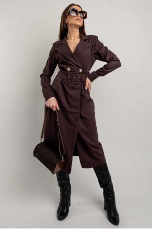 Сукня-піджак «Ірма» кольору баклажан