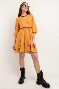 Платье «Алия» цвета горчицы