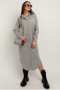 Платье-рубашка «Кайя» серого цвета