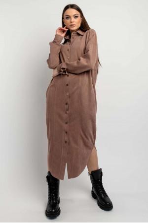 Сукня-сорочка «Кая» кольору капучино
