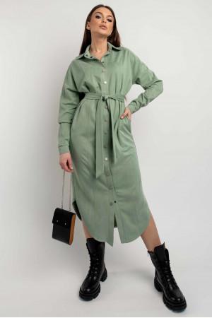 Сукня-сорочка «Кая» оливкового кольору