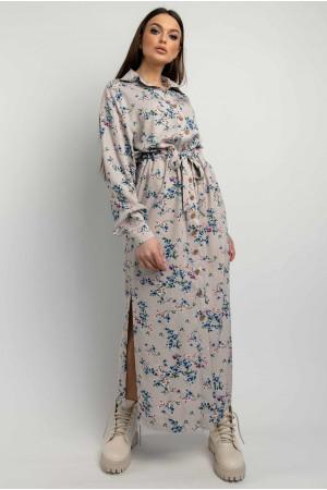 Сукня-сорочка «Джаді» сіро-бежевого кольору