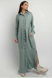 Сукня-сорочка «Джаді» оливкового кольору