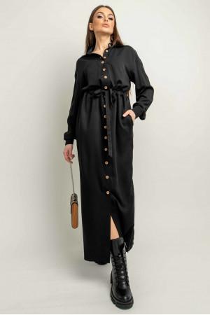 Сукня-сорочка «Джаді» чорного кольору