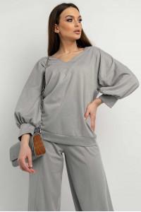 Блуза «Тоши» серого цвета