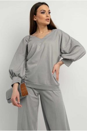 Блуза «Тоші» сірого кольору