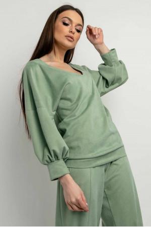 Блуза «Тоші» оливкового кольору