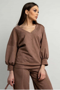 Блуза «Тоші» кольору капучино