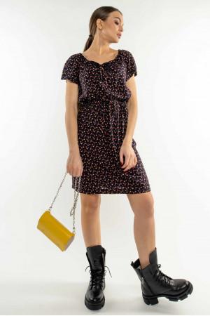 Платье «Кира» черничного цвета