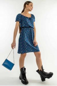 Сукня «Кіра» синього кольору з квітковим принтом
