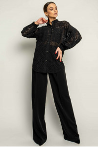 Сорочка «Шарлоні-прошва» чорного кольору