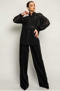 Рубашка «Шарлони-прошва» черного цвета