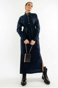 Платье «Олли» темно-синего цвета