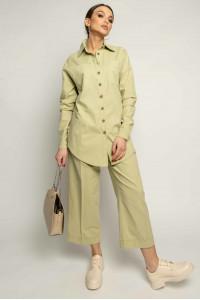Сорочка «Дейо» фісташкового кольору