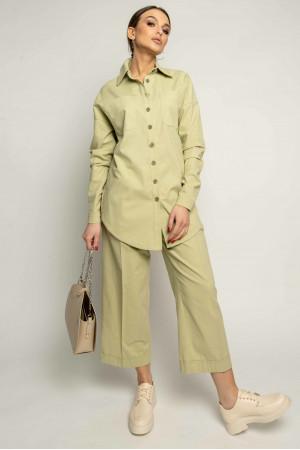 Рубашка «Дэйо» фисташкового цвета