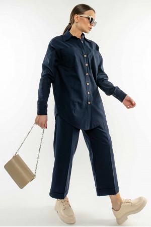 Рубашка «Дэйо» темно-синего цвета