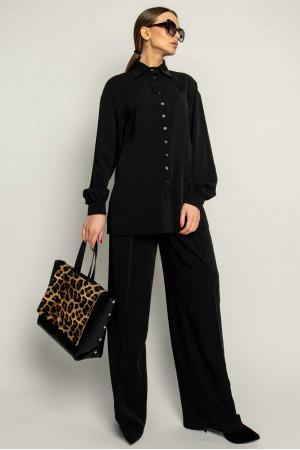 Рубашка «Джоан» черного цвета