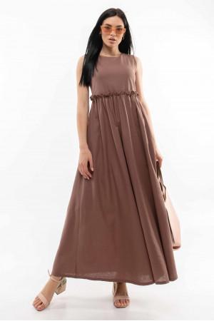 Платье «Лилиан» шоколадного цвета