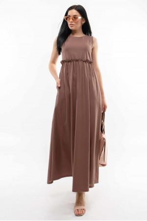 Сукня «Ліліан» шоколадного кольору