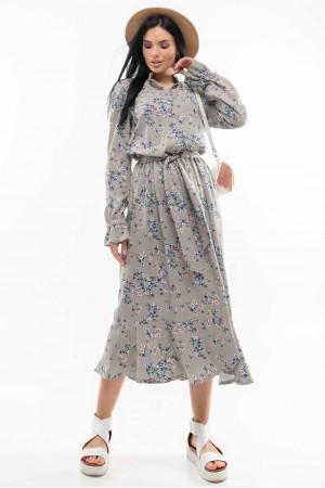 Платье «Флорет» оливкового цвета