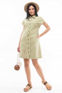 Платье «Дорин» фисташкового цвета