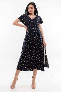 Платье «Джослин» черничного цвета