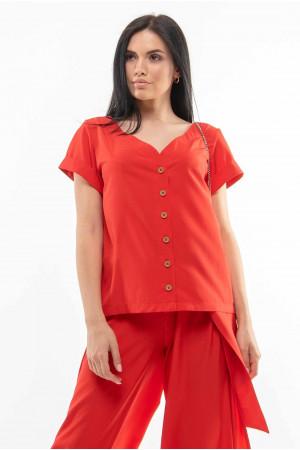 Блуза «Бетті» червоного кольору