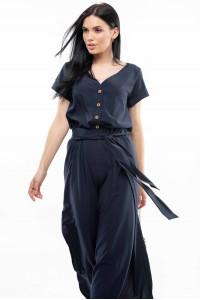 Блуза «Бетті» темно-синього кольору