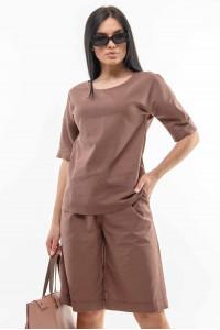 Блуза «Ріплі» шоколадного кольору