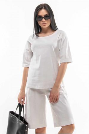 Блуза «Ріплі» білого кольору