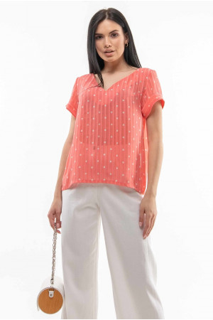Блуза «Феджі» коралового кольору