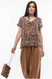 Блуза «Феджи» с принтом-лео