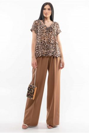 Блуза «Феджі» з принтом-лео