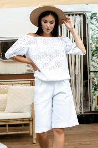 Блуза «Лукия» белого цвета