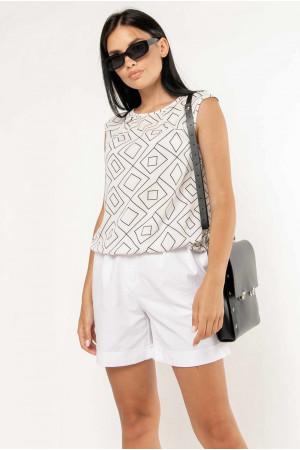 Блуза «Китти» белого цвета