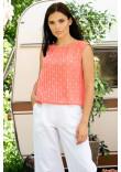 Блуза «Кітті» коралового кольору
