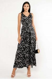 Сарафан «Алиша» черного цвета с принтом