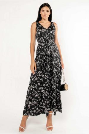 Сарафан «Аліша» чорного кольору з принтом