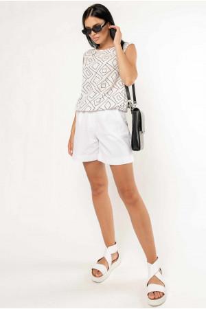 Костюм «Кітті-Кріспі-льон-шорти» білого кольору