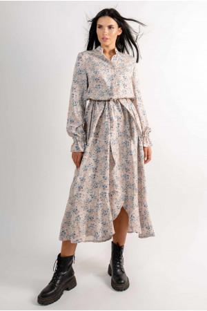 Сукня «Флорет» бежевого кольору з принтом