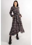 Сукня «Флорет» чорного кольору з принтом