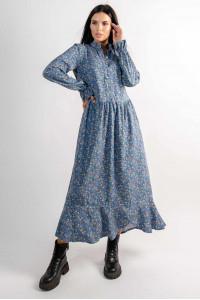 Сукня «Флорет» блакитного кольору з принтом