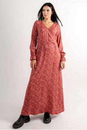 Сукня «Ліна» теракотового кольору з принтом