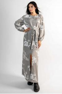 Платье «Медина» цвета пепельного хаки