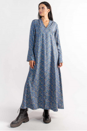 Платье «Ингрид» голубого цвета