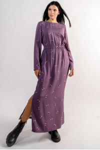 Платье «Аделия» фиолетового цвета с принтом