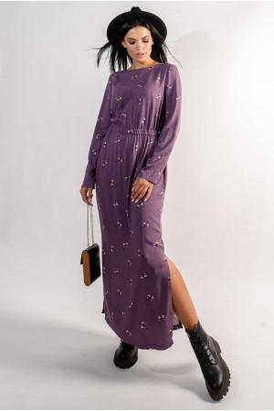 Сукня «Аделія» фіолетового кольору з принтом