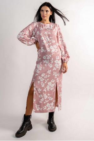 Сукня «Дейлі» кольору пудри з принтом